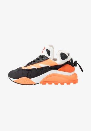 Trainers - black/white/fluo orange