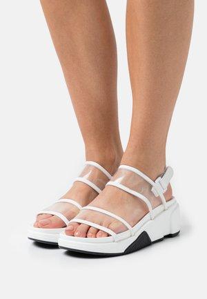 ETHUSSA - Platform sandals - white