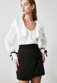 Trendyol - Wrap skirt - black - 4