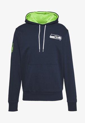 NFL CHEST PRINT TEAM LOGO HOODY SEATTLE SEAHAWKS - Club wear - dark blue
