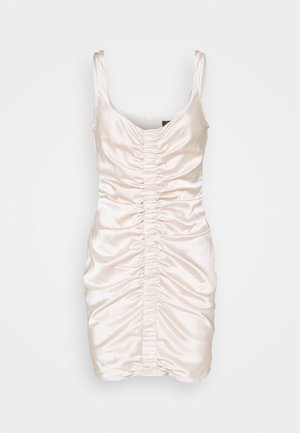 RUCHED FRONT STRAPPY - Koktejlové šaty/ šaty na párty - cream