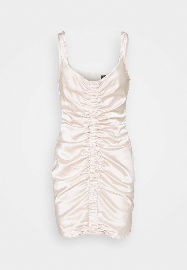 RUCHED FRONT STRAPPY - Vestito elegante - cream