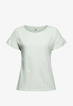 SLUB FRILL - T-shirt basic - pastel green