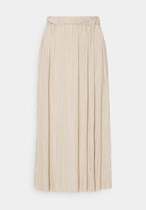 UMA SKIRT - Plisovaná sukně - quicksand