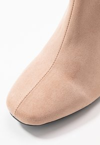 Miss Selfridge Wide Fit - WIDE FIT BRIXTON ZIP BACK SQUARE TOE - Ankle boots - nude - 2