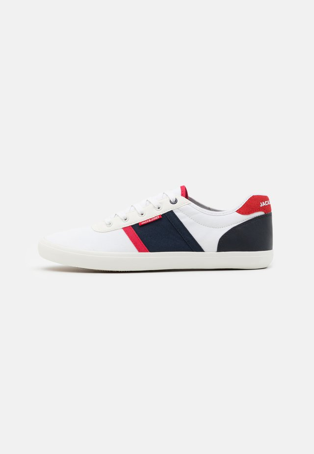 JFWLOGAN - Sneakers laag - white/navy/red