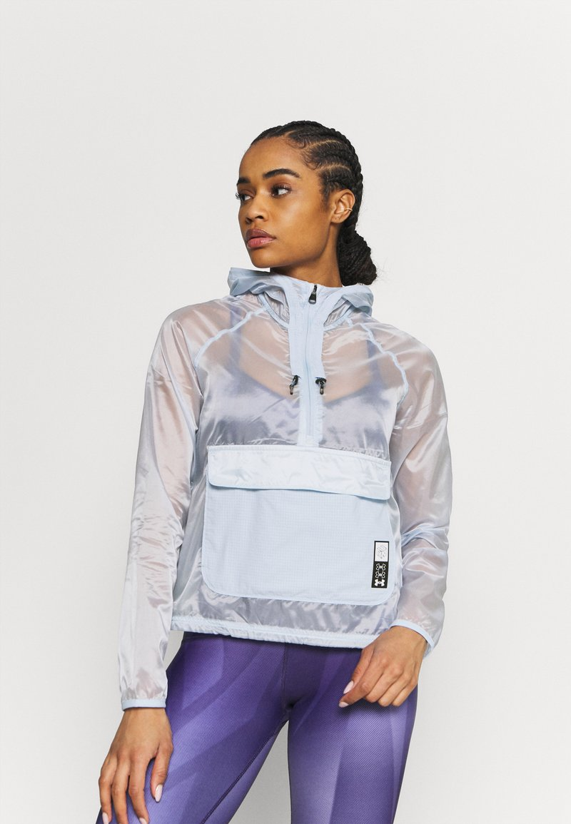 Under Armour - RUN ANYWHERE ANORAK - Juoksutakki - isotope blue