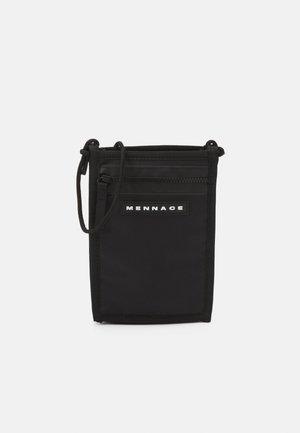ZIP NECK POUCH UNISEX - Across body bag - black