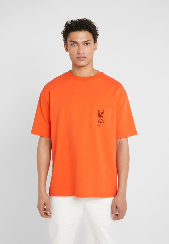 WILLIAM - T-shirt imprimé - orange