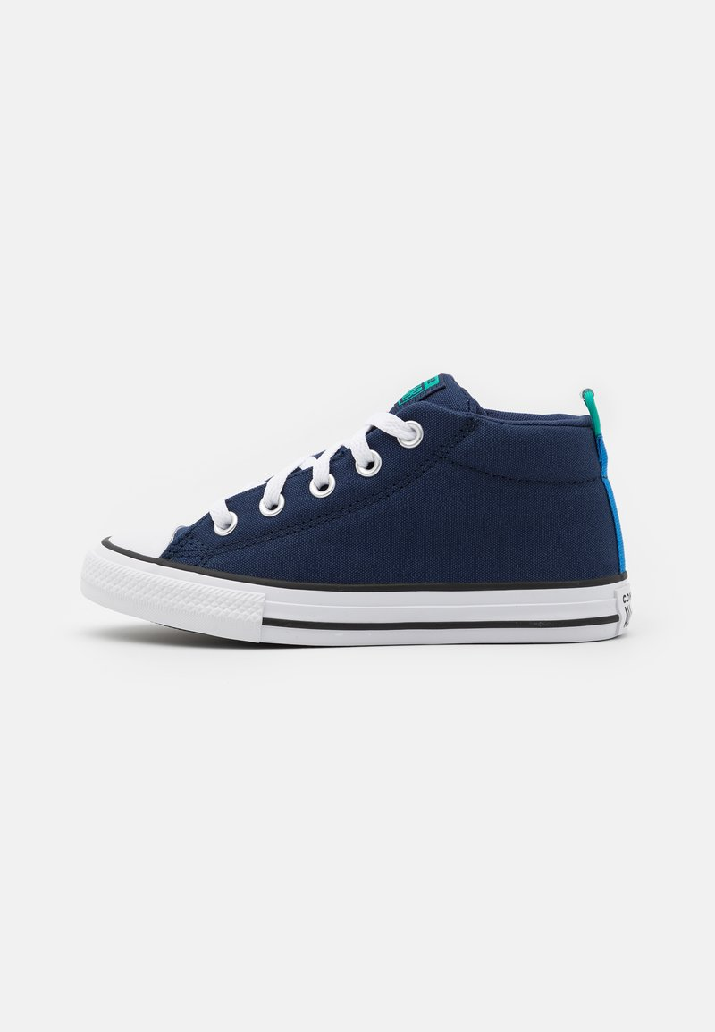 Converse - CHUCK TAYLOR ALL STAR STREET SEASONAL UNISEX - High-top trainers - midnight navy/court green/digital blue