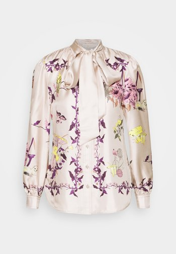 MUSHROOM PARTY BOW BLOUSE