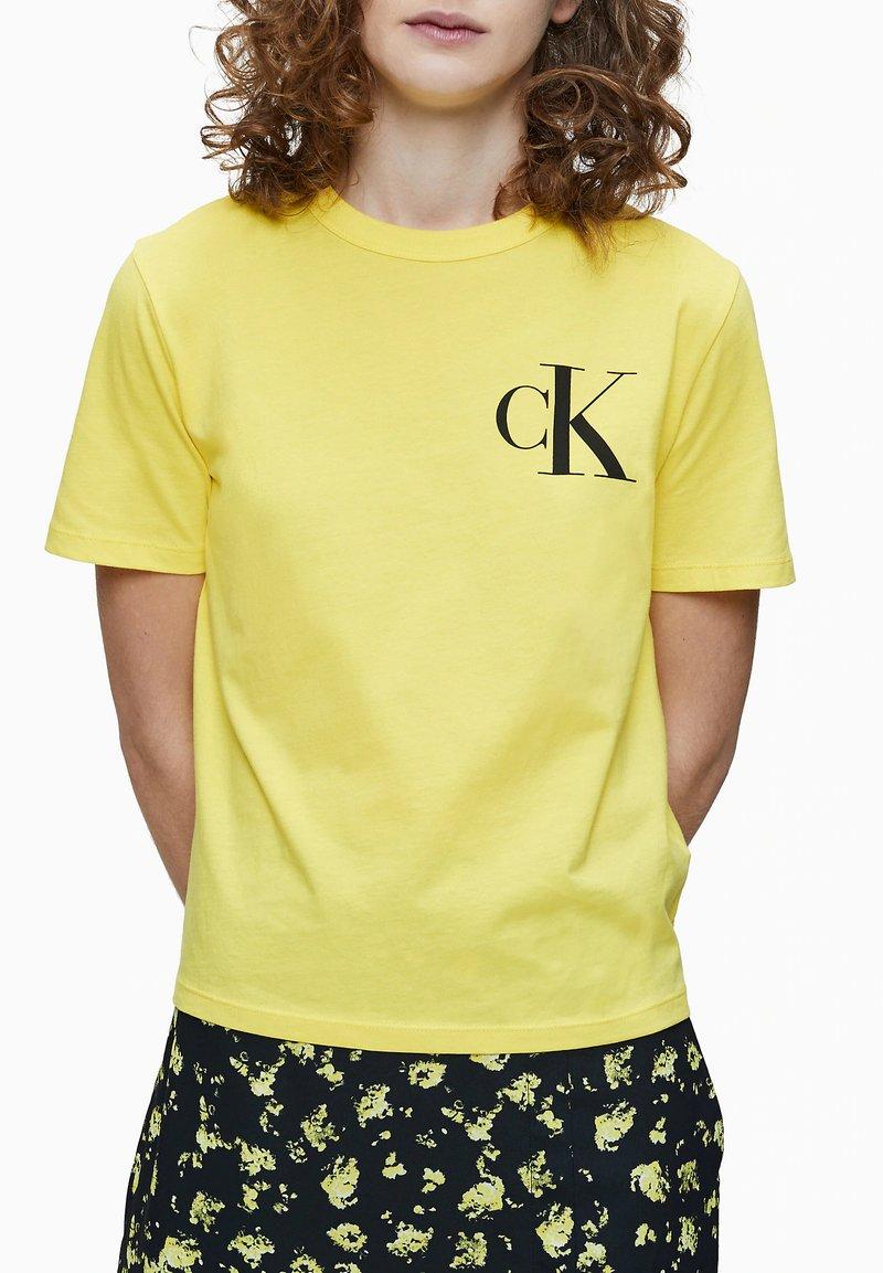 Calvin Klein Jeans - Print T-shirt - solar yellow