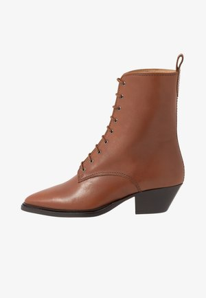 HUNTER LACE UP - Lace-up ankle boots - caramel