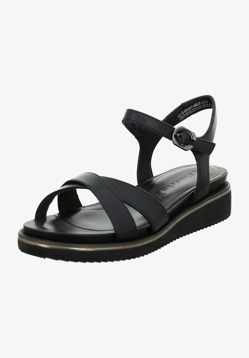 Tamaris - Wedge sandals - schwarz