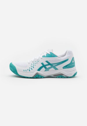 GEL-CHALLENGER 12 - Tennissko til multicourt - white/techno cyan