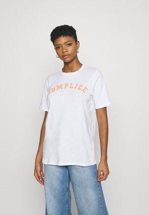 PCLANEA  - Print T-shirt - bright white