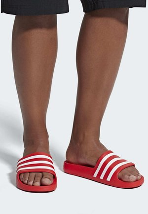 ADILETTE AQUA SLIDES - Pool slides - red