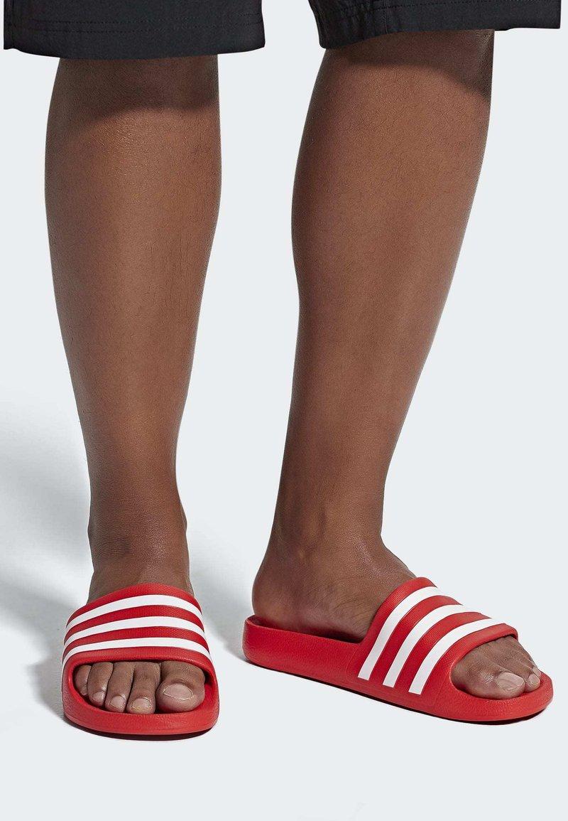 adidas Performance - ADILETTE AQUA SLIDES - Badslippers - red