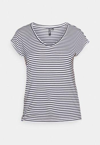 PCBILLO NEW TEE - Print T-shirt - bright white/maritime blue