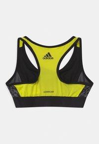 adidas Performance - LEO - Sports bra - black/acid yellow/grey five - 1