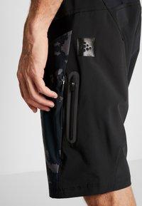 Craft - HALE SHORTS - Sportovní kraťasy - black - 3