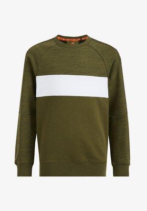 MET COLOURBLOCK EN TAPEDETAIL - Sweatshirt - olive green
