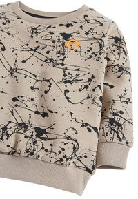 Next - STONE SPLAT PRINT CREW TOP (3MTHS-7YRS) - Felpa - beige - 2
