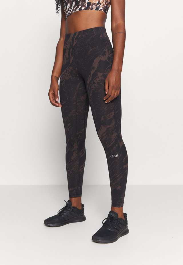 CLASSIC PRINTED - Leggings - impulsive brown