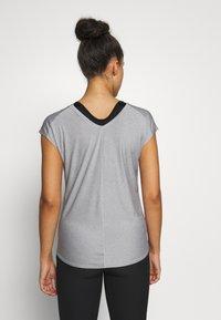 Salomon - COMET TEE  - T-shirts - lunar rock/white/heather - 2