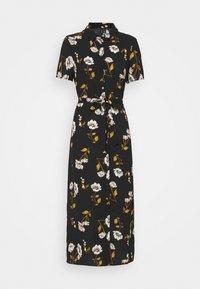Vero Moda - VMMELLIE LONG SHIRT DRESS - Shirt dress - black/mellie - 4