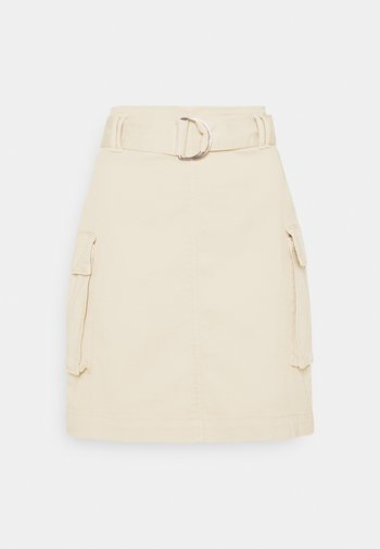 RACHINO - Mini skirt - natural