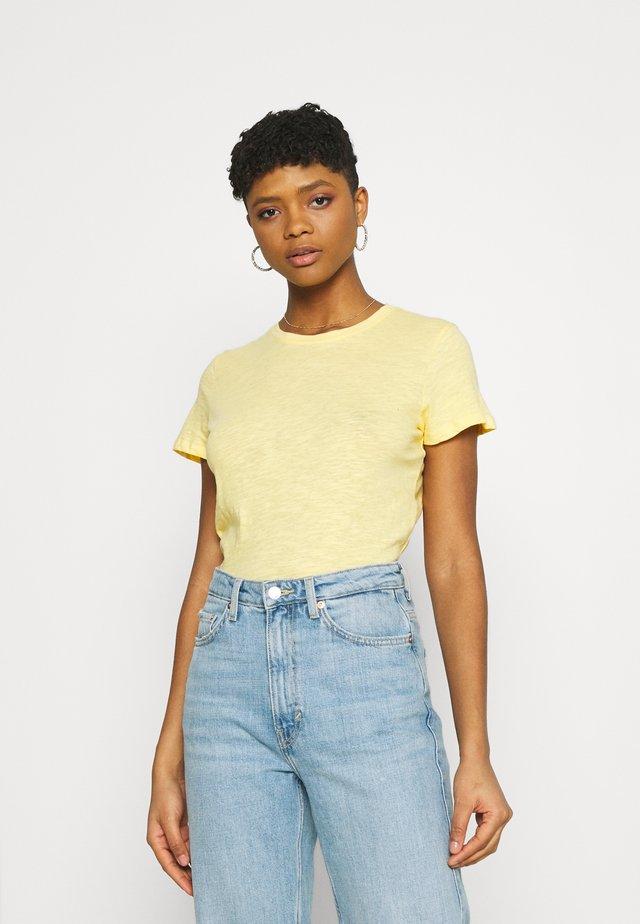 THE CREW - T-shirt basic - banana cream