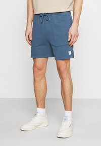 Marc O'Polo DENIM - FRONT POCKETS BACK POCKET - Shorts - grayish petrol - 0