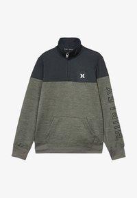 Hurley - SOLAR 1/2 ZIP - Sweatshirt - clay green heather - 3