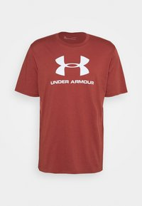 Under Armour - T-shirt med print - cinna red - 3