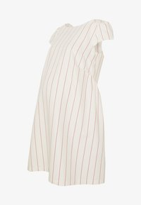 Balloon - LOW BACK DRESS WITH STRIPES - Denní šaty - offwhite/red - 4