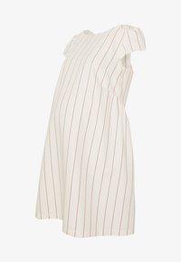 LOW BACK DRESS WITH STRIPES - Denní šaty - offwhite/red