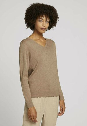 Pullover - french clay beige melange