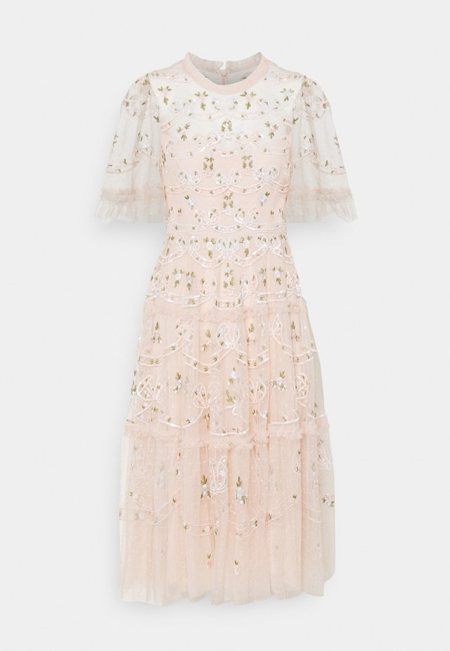 DITSY RIBBON MIDI DRESS - Cocktail dress / Party dress - strawberry icing