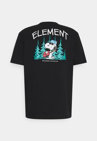 Element - PEANUTS GOOD TIMES - T-shirt con stampa - flint black - 1