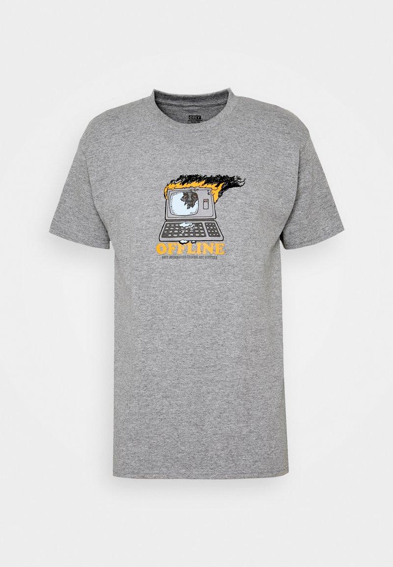 Obey Clothing - OFFLINE - Print T-shirt - heather grey
