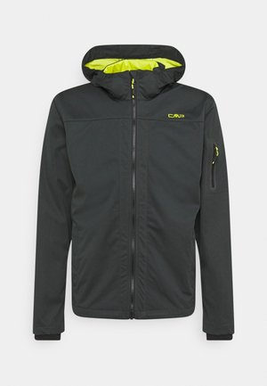 MAN ZIP HOOD JACKET - Soft shell jacket - jungle/lime