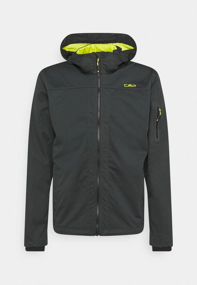 MAN ZIP HOOD JACKET - Veste softshell - jungle/lime