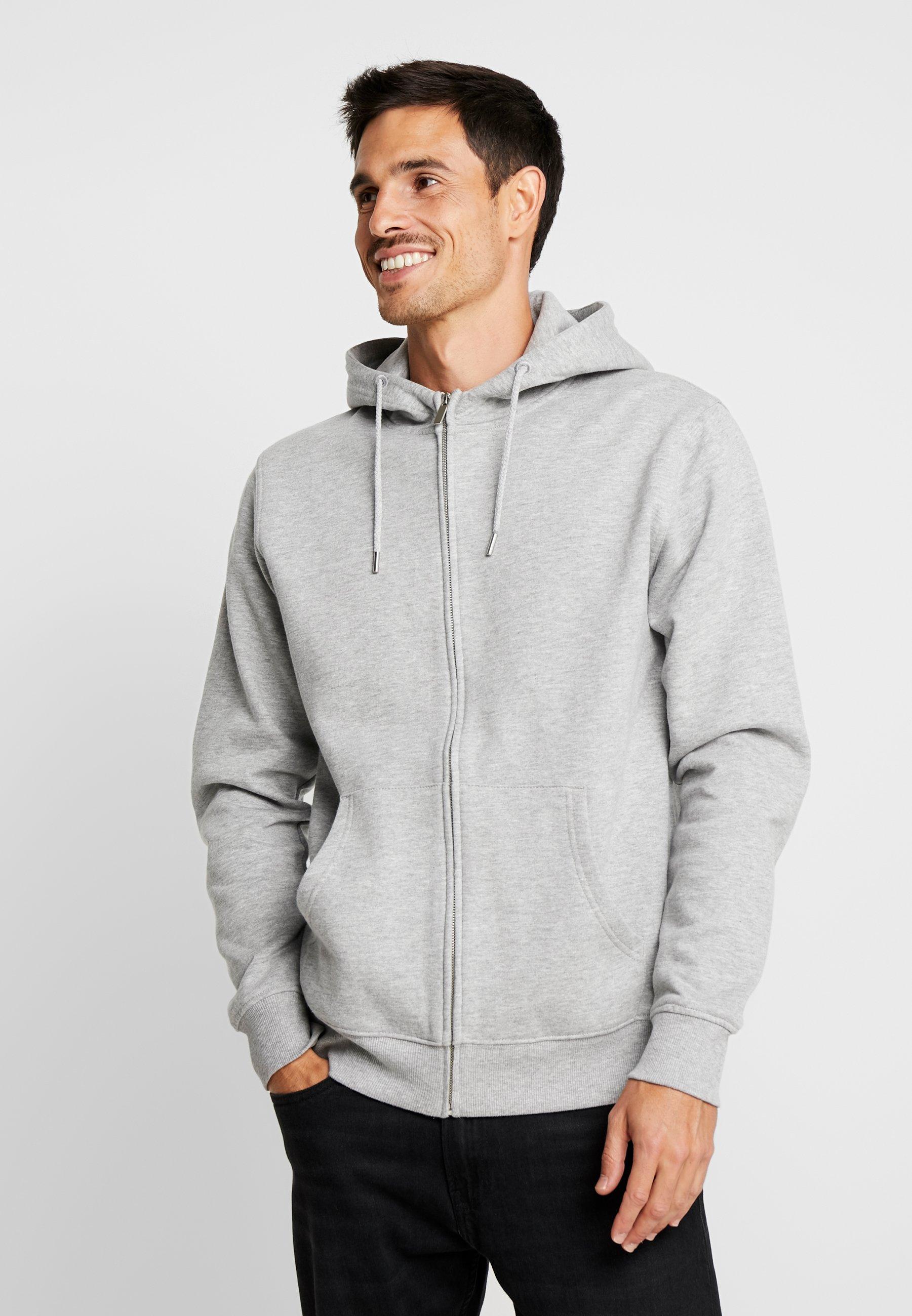 Men MORGAN - Zip-up sweatshirt -  grey
