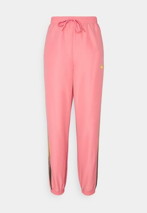 PANTS - Trainingsbroek - hazy rose/acid yellow/black