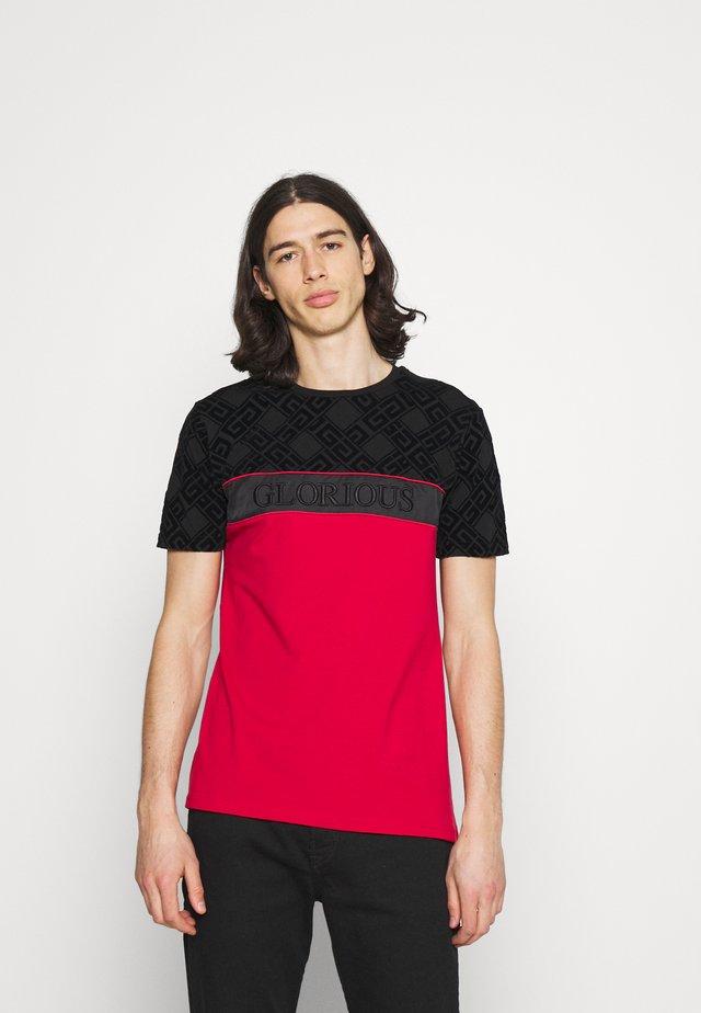 VARTAN TEE - T-shirt con stampa - red