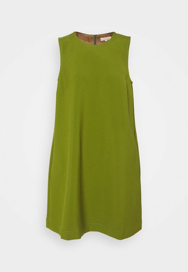 TAILORED SHIFT DRESS - Day dress - green