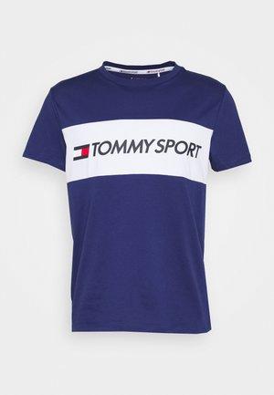 COLOURBLOCK LOGO - Print T-shirt - blue