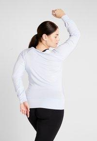 YOGA CURVES - BOAT NECK - Long sleeved top - light blue - 2