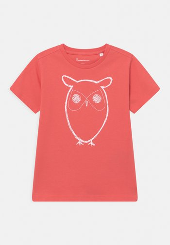 FLAX OWL TEE - Print T-shirt - spiced coral